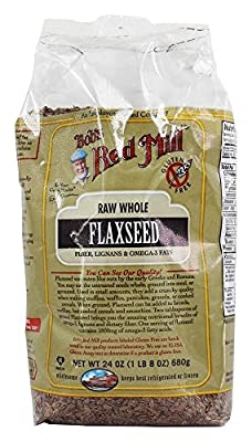 Bob's Red Mill, Natural Raw Whole Flaxseed, 24 oz (680 g) from Bob's Red Mill