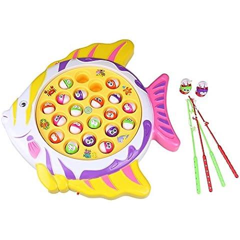 Divertido Juego de Pesca Rotativo Peces Juguete de Electrónico Musical para Niños Niñas 3 4 5
