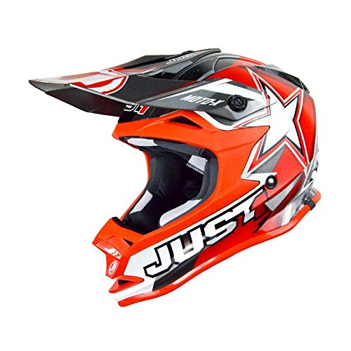 WACOX Casque Cross Just1 J32 Moto X, Rouge, Taille XL