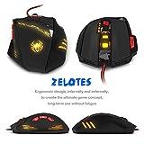 DLand Zelotes Gaming-Maus T90Profi-PC-Maus 9200DPI High Precision, mit USB-Anschluss, 8Tasten, mit 7LED-Modi, Gewichts-Tuning-Set, kompatibel mit Windows 7, 8, XP, Vista, ME, 2000und so weiter. - 3