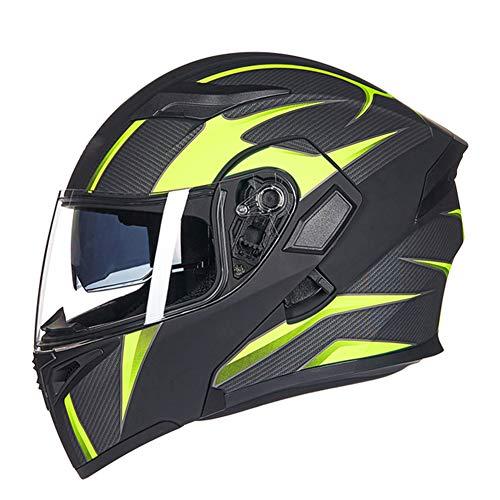Bluetooth-Casco-Moto-Doppia-Visiera-Parasole-Anti-nebbia-Completo-Viso-Casco-Unisex-adulto-Flip-Up-Casco