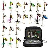 20 Pezzi Cucchiaini da Pesca Esche Artificiali Spinning per Trota, Persico,Luccio Spoon Kit 3g-14g