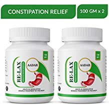Re-LAX Constipation Relief Powder - Remedy for Kabz, Acidity, IBS and Gastric Issues, 100 GM (Pack of 2)