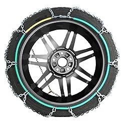 Compass Catene da neve SUV-Van per pneu 225/65 R17, Extra forte 16x27mm, Omologate TÜV (245), 1 paio