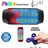 #5: Intex Mobile Devices Compatible Certified Pulse Series Portable Bluetooth Usb/Tf Pulse Speaker Colorful Led Lights with New Fidget Hand Spinner for Fun, Anti-Stress, Focus, ADHD, Anxiety & Autism(1 Year Warranty)
