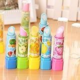 Haodou 4 Pcs Neuheit Lippenstift Form Radiergummi Lustig Spielzeug für Kinder Geburtstag Kreatives Eraser Für Kinder Schreibwaren
