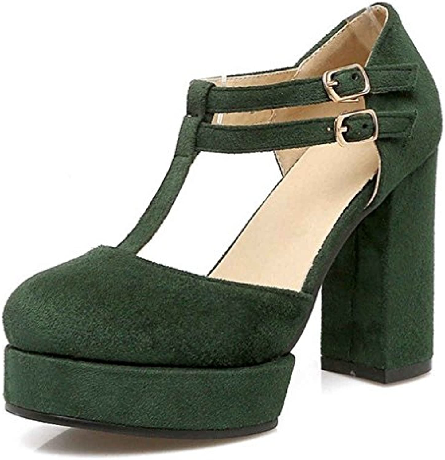 f7d7669482a SJJH Court Shoes Heel with T-Straps and Chunky Court Chunky Heel with Plus  B078S74CND Parent 3c2a17e - www.wildaggressivedog.com