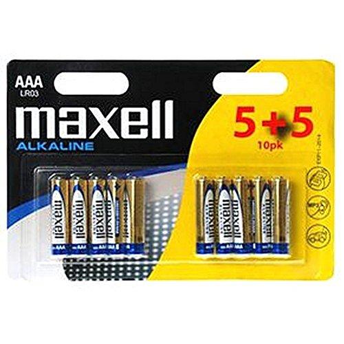Batterie alcaline AAA 5 batterie stilo Non MAXELL-ricaricabile