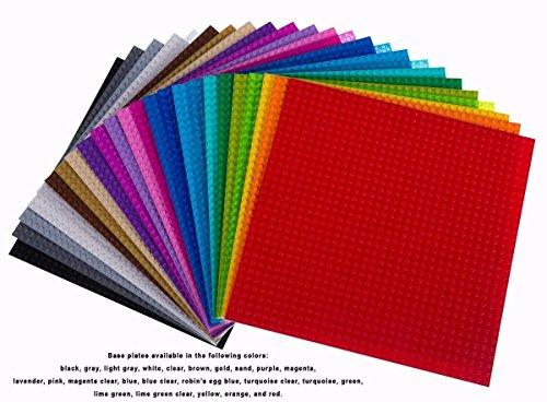 """(Strictly Briks - Bauplatten zum Bauen von Türmen, Tischen & mehr - 100 % kompatibel mit Allen führenden Marken - 10 x 10"""" (25,4 x 25,4 cm) - 24 Stück in 24 Farben)"""
