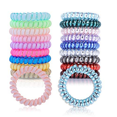 Set elastici a spirale in gomma elastico per telefono eleganti senza piega con cordino adatto donna bambina ragazza per tutti tipi di capelli multicolore candy + luminoso
