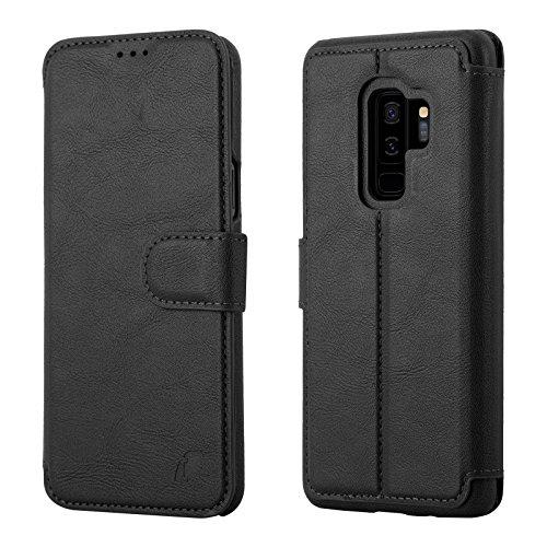 for Samsung S9 Plus Leather Flip Cases Wallet Flip Cases – Magnetic Closure