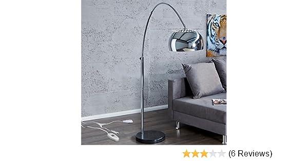 Bogenlampe Mit Dimmer ~ Big bow bogenleuchte chrome retro design lampe dimmbar mit dimmer