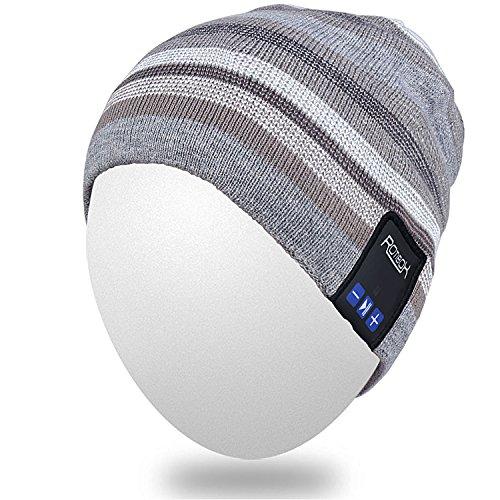 Qshell Unisex Adult Bluetooth Beanie Hut Trendy Soft Warm Kurz Audio Musik Cap mit Wireless Kopfhörer Headset Lautsprecher Mic Hands-frei, Weihnachtsgeschenk für Winter Outdoor Sport...