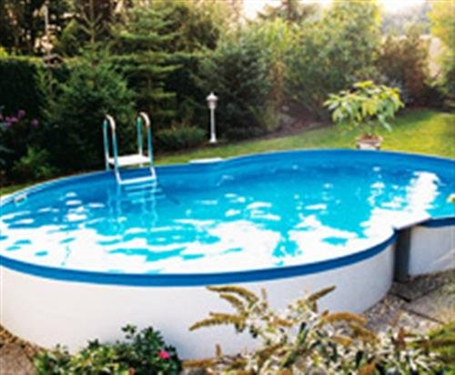 Stahlwandbecken 8-form 3,20m x 5,25m x 1,20m Folie 0,6mm ohne Filter Pool Pools Achtformbecken Achtformpool -