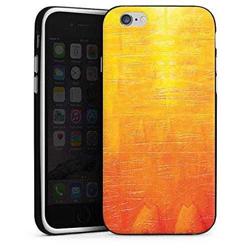 Apple iPhone 5s Housse Étui Protection Coque Egratignure Structure Peinture Housse en silicone noir / blanc