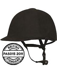 Harry Hall Junior Horse Riding Riding Hat Helmet PAS015 Black Velvet 52-61CM