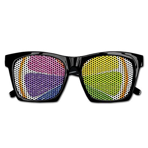 EELKKO Mesh Sunglasses Sports Polarized, Rainbow Colored Orange Fresh Fruit Citrus Winter Season Food Diversity Equality,Fun Props Party Favors Gift Unisex