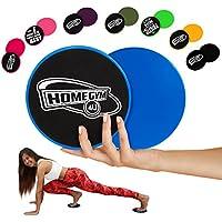 HG4U - 2 Disques Glissants Fitness - Core Sliders pour Entraînement abdominaux - Equipement pour Exercices/Sport Abdo - Glisseurs Crossfit, Cardio, Yoga, Salle de Gym