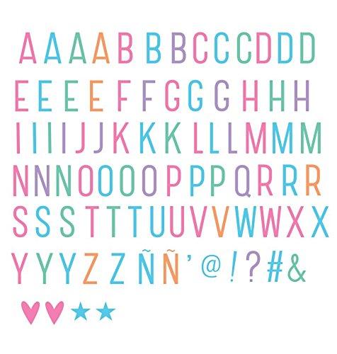 85 Lettere e Numeri di colori pastello per Light Box luminosi