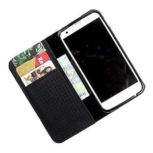 i-KitPit PU Leather Wallet Flip Case Cover For iPhone 4 / 4S (Black)