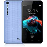 Homtom HT16 - Smartphone Libre 3G de 5.0''HD ( Android 6.0, 5.0MP+2.0MP cámaras, 8GB ROM+ 1GB RAM, MTK6580 quad-core 1.3GHZ), azul
