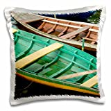 Danita Delimont - Cindy Miller Hopkins - Boats - Brazil, Amazon, Alter Do Chao. Colorful local wooden fishing boats. - 16x16 inch Pillow Case (pc_187647_1)