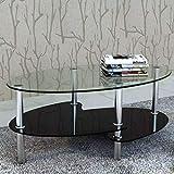 Tidyard Mesa de Centro con Diseño Exclusivo de 3 Niveles Mesa de Cristal Mesita de Noche Mesa de...
