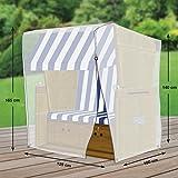 Klassik Schutzhülle für Strandkorb aus PE-Bändchengewebe - transparent - von 'mehr Garten' - Standardgröße (Breite: max. 125cm)