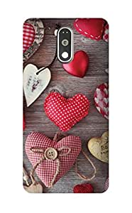 Hamee Printed Hard Back Cover / Case for One Plus 3T / OnePlus 3T Hearts 2