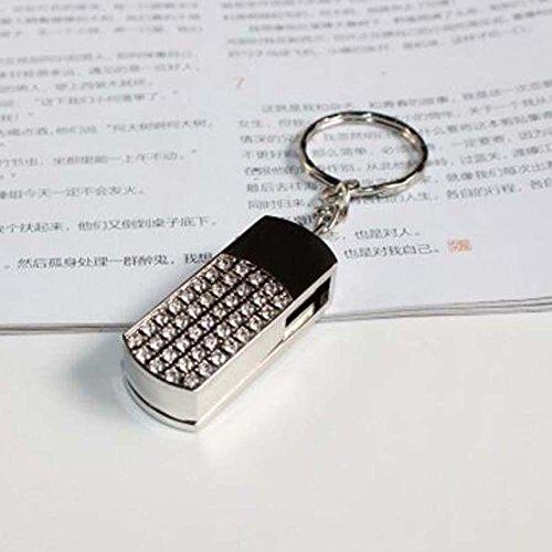 WANYAO 1 STÜCK Mode 16 GB Flash-speicher U Disk Storage Drive für Alle Dateien USB flash disk, Glänzende Schlüsselanhänger Schmuck Zubehör (silver)