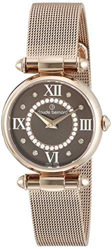 Claude Bernard Women's 20500 37R BRPR1 Dress Code Analog Display Swiss Quartz Rose Gold Watch