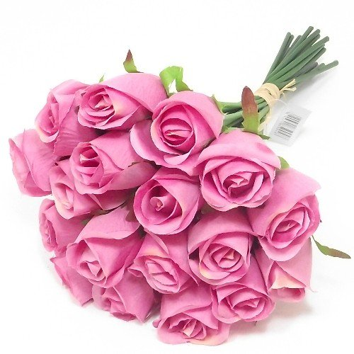 30cm-bunch-bundle-of-18-artificial-pink-roses-weddings-homes-grave