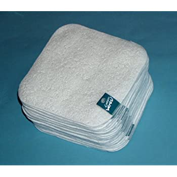 63e55acdf1f02 Cheeky Wipes 25 White Terry Towelling Wipes: Amazon.co.uk: Baby