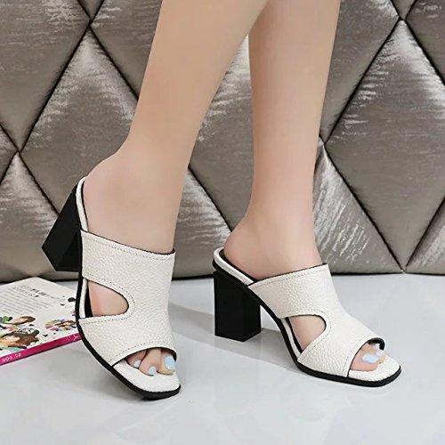 ZYUSHIZ  Sommer Sandalen Hausschuhe Frau den minimalistischen Stil Continental 37EU
