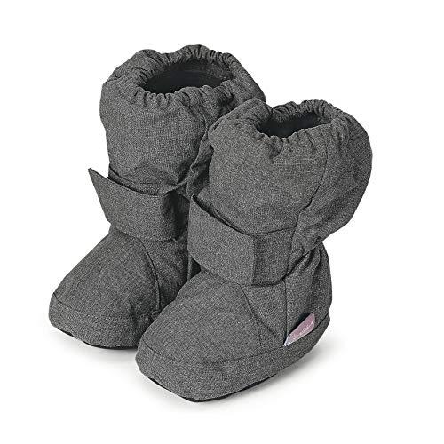Sterntaler Mädchen Baby Stiefel mit Klettverschluss, Grau (Anthracite Mel. 592), 22 EU -