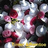 Topstone batteriebetriebene White Flackernde LED Kerzenlicht, mit Fernbedienung und 4 H, 6 H, 8 H Timer, am besten für Weihnachtsgeschenk und Dekoration und Party, 2 Dutzend Pack