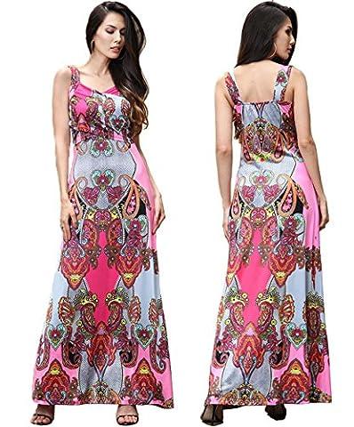 LemonGirl V-neck Impression pleine couleur Long Hem Dress Fashion Low-cut Dresses
