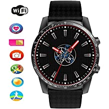 KW99 touchscreen Smartwatch Bluetooth Smart Watch Unlocked Android 5.1 cinturino Phone SIM 3 G WiFi Call cardiofrequenzimetro pedometro per smartphone Android iOS di Aolvo Black