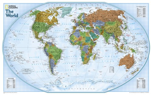 Explorer Weltkarte, politisch: 1:51969000: Political (National Geographic Reference Map) National Geographic Earth Explorer