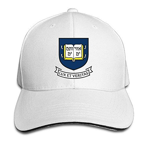 Huseki American Yale University Logo Casual White Sandwich Peaked Cap White