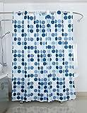 Duschvorhang 180X200 Wasserdicht Schimmelfrei 12 Duschringen Textil Dusche Bad , Design - Motiv:Design 4