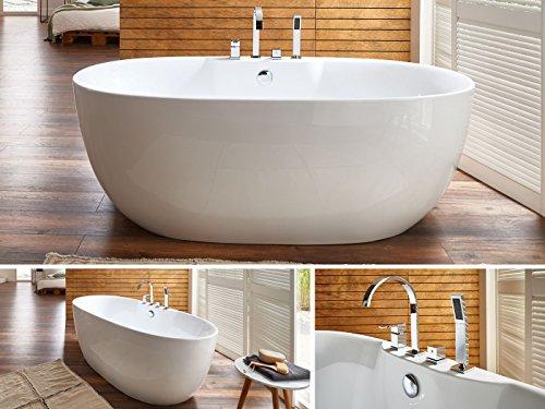 Badewannen welches material ist das richtige - Freistehende badewanne mit armatur ...