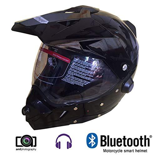Wansheng Motorcycle Smart Helm, Motocross-Kamera-Helm Mit Bluetooth Music/Treibenden Aufzeichnbaren Video, Geeignet Für Extreme Sportbegeisterte (Helm Video)