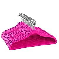 ZOBER Premium Velvet Hangers [50 Pack] Non-Slip Clothes Hangers Ultra Thin Space Saving 360° Swivel Hook Strong and Durable Coat Hanger Hold Up-To 4.5kg, Velvet Suit Hangers for Trousers & Dresses