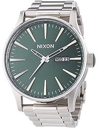 Nixon  0 - Reloj de cuarzo para hombre, con correa de acero inoxidable, color plateado
