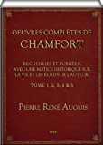 Oeuvres Complètes de Chamfort (complete - Vol. 1, 2, 3, 4, & 5 to 5)