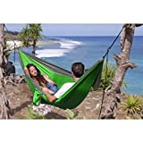 Hammock for 2 Person, Double and Single, Portable Nylon Parachute Multifunctional Hammock for Outdoor Travel, Camping, Hiking, Backpacking, Mats, Swing, Carpet, 106 x59 in, Weight capacity 661lb, Apriller