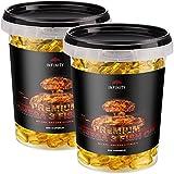 500 Kapseln - Premium Omega 3 Fish Oil, Hochdosiert - 1000mg Lachsöl - Fischöl mit EPA, DHA, Vitamin E
