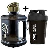 Optimum Nutrition Gym - Coctelera de proteínas (400 ML, Incluye Jarra de Agua de 2 litros)