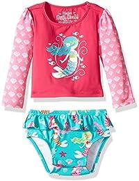 Hatley Baby - Mädchen Schwimmoberteil Baby Rash Guard Set